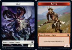 Goat Token // Satyr Token - Foil