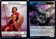 Human Soldier Token // Nightmare Token - Foil