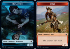 Reflection Token // Satyr Token - Foil