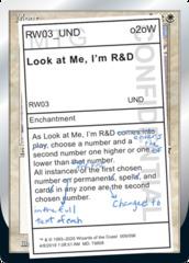 Look at Me, I'm R&D