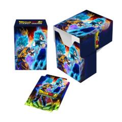 Ultra Pro - Dragon Ball Super Full-View Deck Box - Goku, Vegeta, and Broly