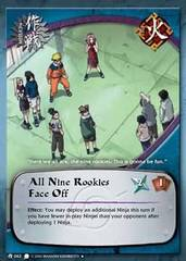All Nine Rookies Face Off - M-063 - Uncommon - Unlimited Edition - Wavy Foil