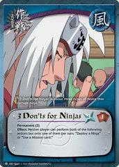 3 Don'ts for Ninjas - M-187 - Common - 1st Edition - Diamond Foil
