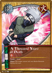 A Thousand Years of Death - J-US009 - Common - 1st Edition - Diamond Foil
