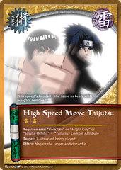 High Speed Move Taijutsu - J-US042 - Common - Unlimited Edition - Wavy Foil
