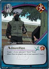 Admonition - M-216 - Uncommon - Unlimited Edition - Diamond Foil