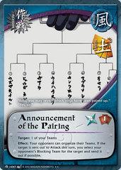 Announcement of the Pairing - M-US047 - Rare - 1st Edition - Diamond Foil