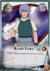 Arashi Fuma - N-303 - Common - 1st Edition - Diamond Foil