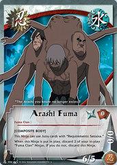 Arashi Fuma - N-304 - Uncommon - 1st Edition - Diamond Foil