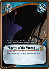 Agony of the Strong - M-404 - Common - 1st Edition - Foil