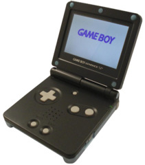 Black Gameboy Advance SP [AGS-101]