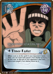 4 Times Faster - M-447 - Uncommon - 1st Edition - Foil
