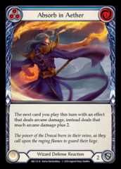 Absorb in Aether (Blue) - Rainbow Foil - 1st Edition