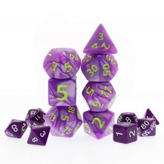 HD Polyhedral 7 Dice Set Purple Giant Pearl