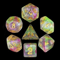 HD Polyhedral 7 Dice Set Dragon's Breath