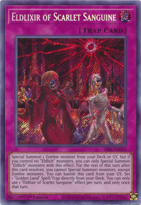 Eldlixir of Scarlet Sanguine - SESL-EN031 - Secret Rare - 1st Edition