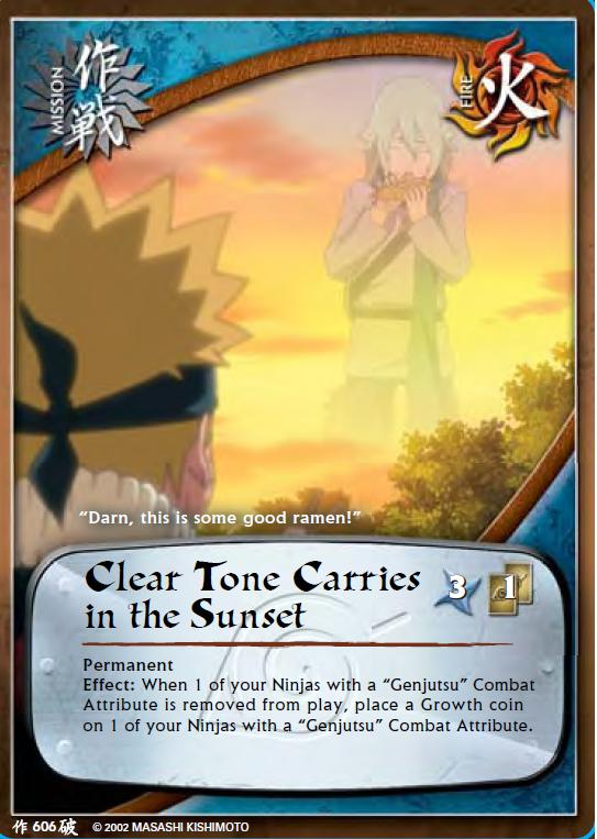 Clear Tone Carries in the Sunset - M-606 - Common - 1st Edition - Foil