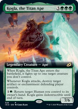 Kogla, the Titan Ape - Extended Art