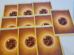 20 Basic Fighting Energy Cards (Sun & Moon Series Design, Unnumbered)