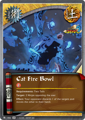 Cat Fire Bowl - J-1006 - Rare - Unlimited Edition