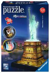 Statue of Liberty at Night - 3D Puzzle