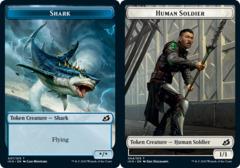 Shark Token // Human Soldier Token (004) - Foil