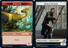 Dinosaur Token // Human Soldier Token (004) - Foil