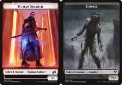 Human Soldier Token (005) // Zombie Token (009)