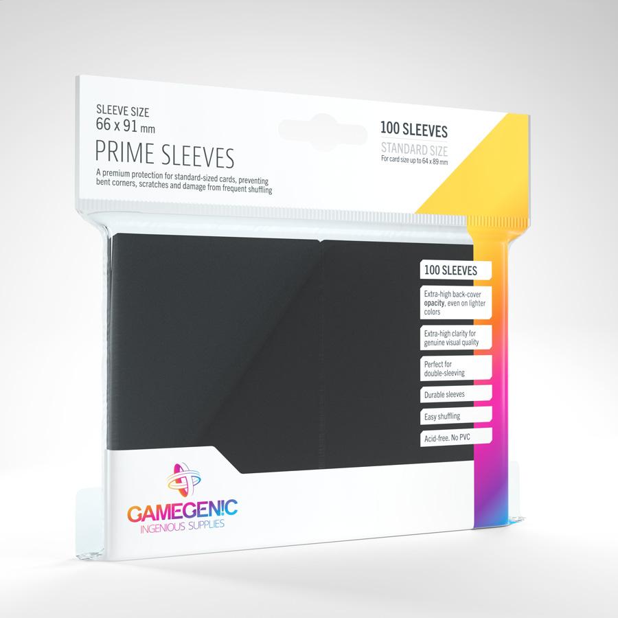 Gamegenic - Prime Sleeves - Black (100)