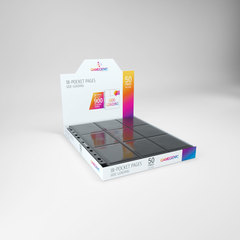 Gamegenic - 18 - Pocket Pages Side Loading - Black - (50 pages display)