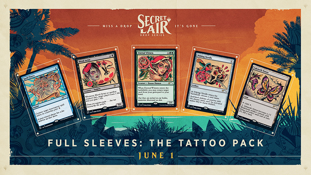 Secret Lair - Summer Super Drop - Full Sleeves: The Tatoo Pack