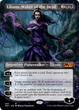 Liliana, Waker of the Dead - Foil - Borderless