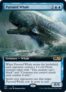 Pursued Whale - Foil - Extended Art
