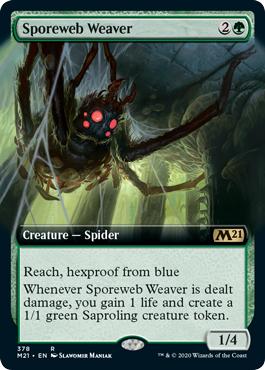 Sporeweb Weaver - Foil - Extended Art