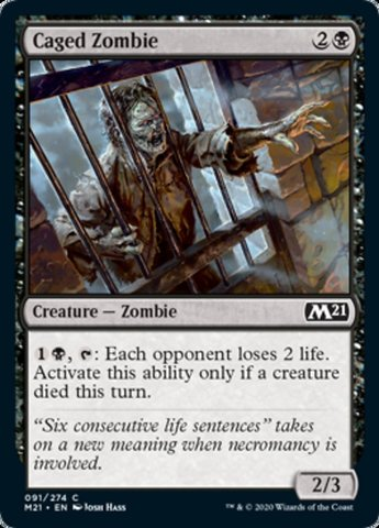 Caged Zombie - Foil