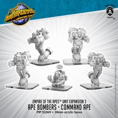 Empire of the Apes - Ape Bombers & Command Ape - PIP51069 - 30mm acrylic bases