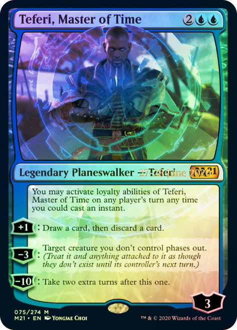 Teferi, Master of Time - Foil - Prerelease Promo