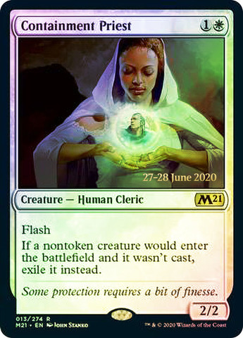 Containment Priest - Foil - Prerelease Promo