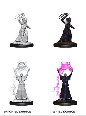 Nolzurs Marvelous Miniatures - Female Drow Mage & Drow Priestess