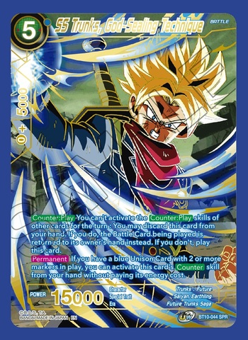 SS Trunks, God-Sealing Technique - BT10-044 - SPR