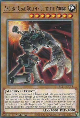Ancient Gear Golem - Ultimate Pound - LDS1-EN085 - Common - 1st Edition