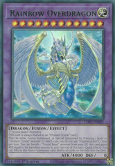 Rainbow Overdragon (Green) - LDS1-EN101 - Ultra Rare - 1st Edition