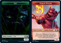 Cat Token (011) // Goblin Wizard Token - Foil