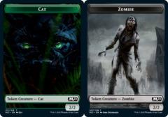Cat Token (011) // Zombie Token - Foil