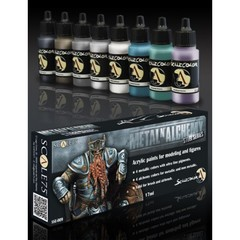Scale75 - Scalecolor Range - Metal and Alchemy Steel Paint Set - SSE-009 - Paint Set