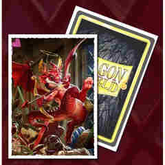 Dragon Shield Sleeves: Art Matte 2020 Valentine's Dragon (Box of 100) - Limited Edition