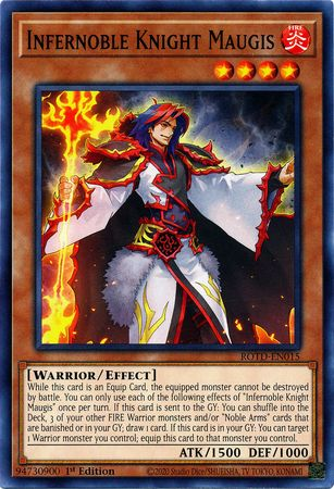 Infernoble Knight Maugis - ROTD-EN015 - Common - 1st Edition