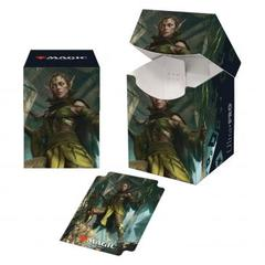 Ultra Pro - Zendikar Rising PRO 100+ Deck Box for Magic: The Gathering - Nissa of Shadowed Boughs