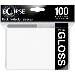 Ultra Pro - Standard Deck Protectors: Eclipse Pro-Gloss Arctic White 100 ct