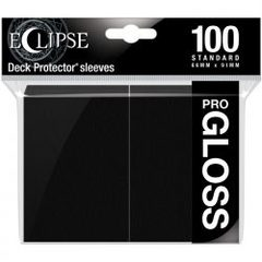 Ultra Pro - Standard Deck Protectors: Eclipse Pro-Gloss Jet Black 100 ct